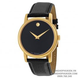 Đồng Hồ Movado Museum Black Dial Gold Case Men MV2100005Đồng Hồ Movado Museum Black Dial Gold Case Men MV2100005