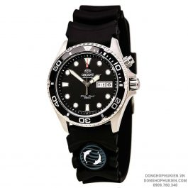 Đồng Hồ Orient RAY Black Diver Rubber Band EM6500BB