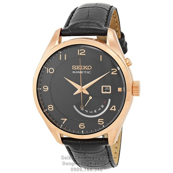 Seiko Kinetic Rose Gold SRN054