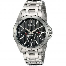 Bulova Classic Black Dial Stainless Steel 96C107