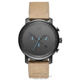 Chrono Gun Metal Sandstone Leather