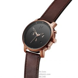 Chrono Rose Gold Brown Leather