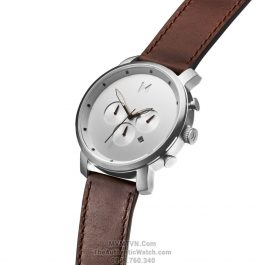 Chrono Silver Brown Leather
