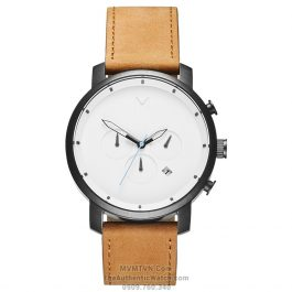 Chrono White Black Tan Leather