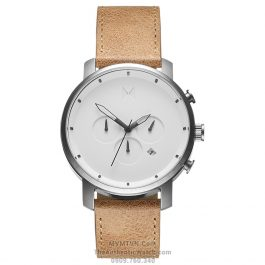 Chrono White Caramel Leather