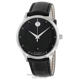 Movado 1881 Black Leather 0606873