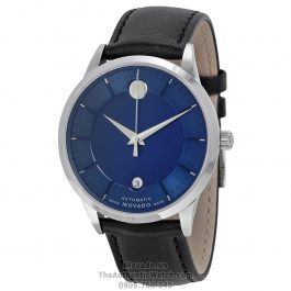 Movado 1881 Blue Dial Black Leather 0606874