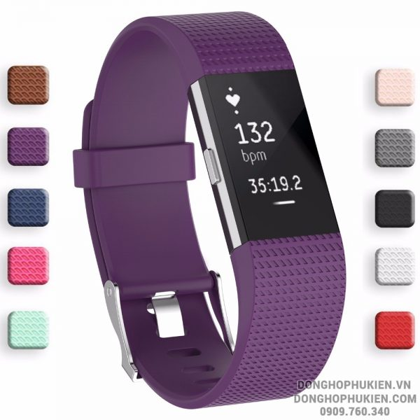 Dây Cao Su Silicon Cho Fitbit Charge 2